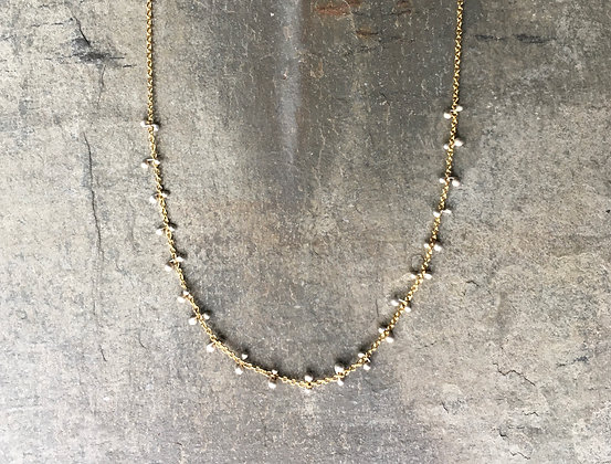 silver and gold rhythm necklace