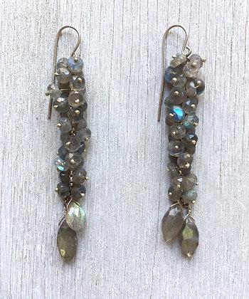 mermaid labradorite earrings