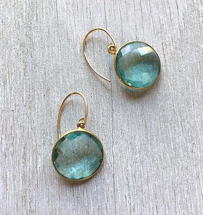 watery gold disc earrings