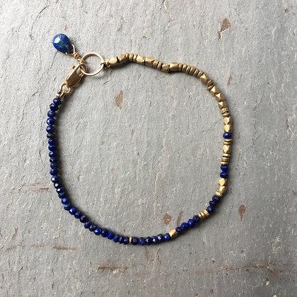 lapis brass fade bracelet
