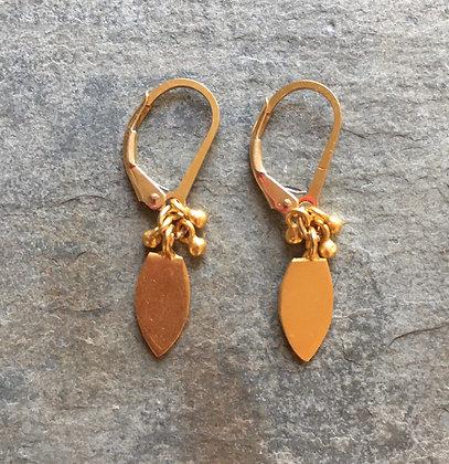 golden spades earrings