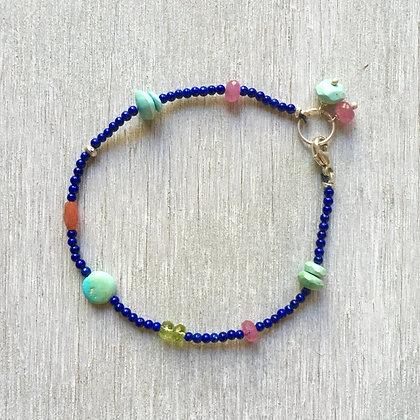 lapis desert rainbow bracelet