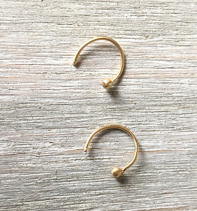 14k gold earloops
