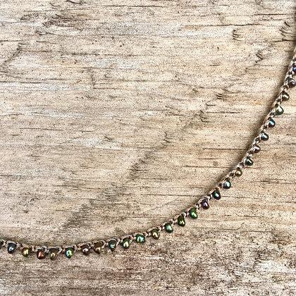 Black pearl crochet necklace