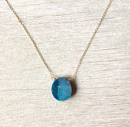 fade to blues Ausie opal necklace