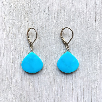 big sky slice turquoise earrings
