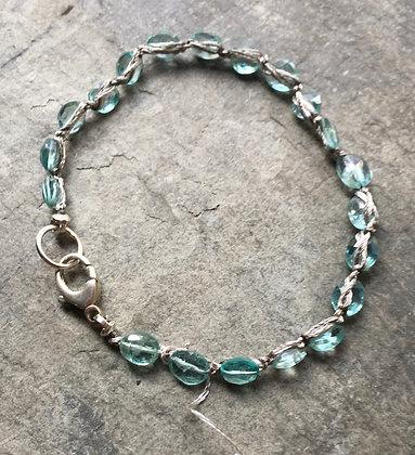 sparkling water crochet bracelet