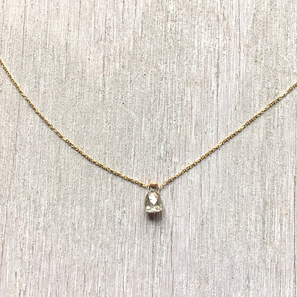 diamond briolette necklace .75ct