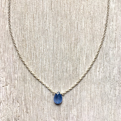blue sapphire on silver