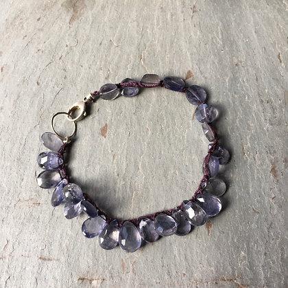 iolite crochet bracelet