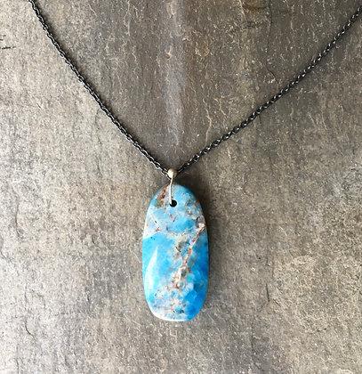 blue depths apatite pendant necklace