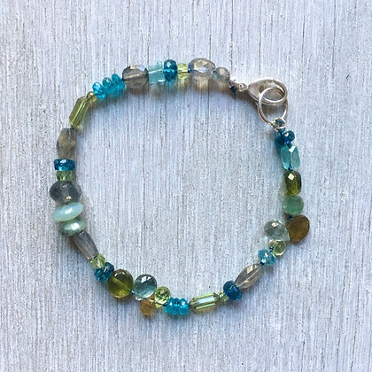 blues, grays and greens bracelet