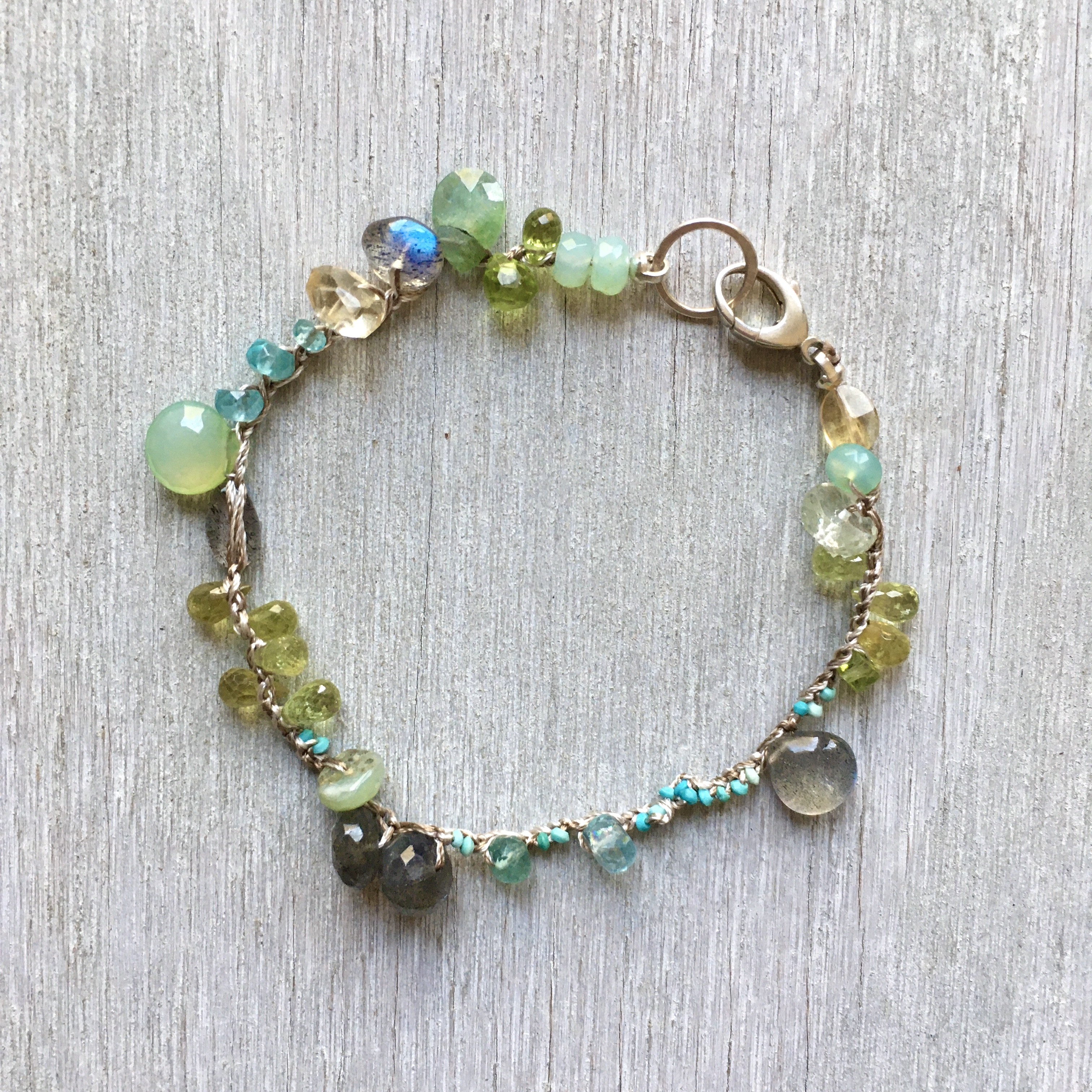 spring sea crochet bracelet