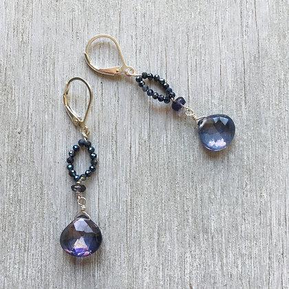 blue nights earrings