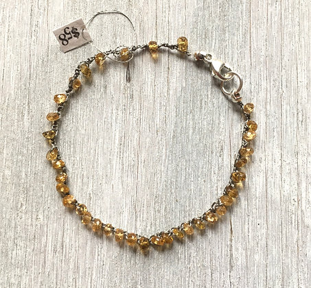 tourmaline sun crochet bracelet