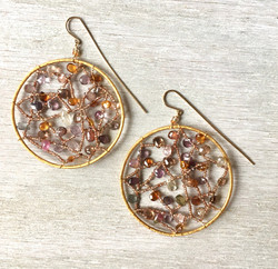 spinel garden web earrings