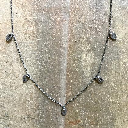 black leaf rhythm necklace