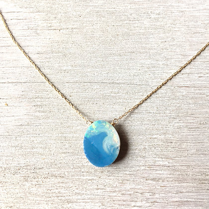 Ausie wave opal necklace