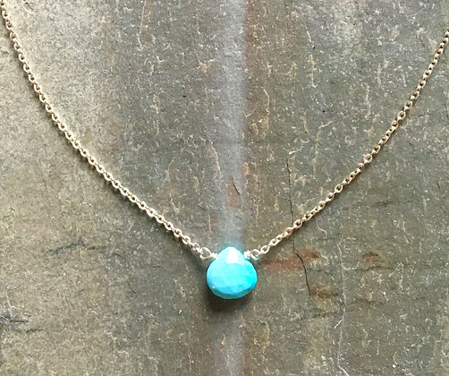 American turquoise on silver