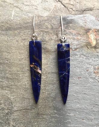 sodalite spear earrings