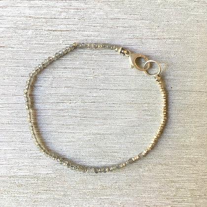 labradorite and silver fade bracelet