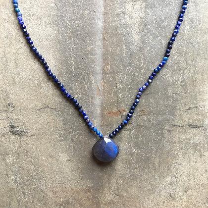 ombre blues necklace