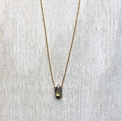 gold glow labradorite necklace