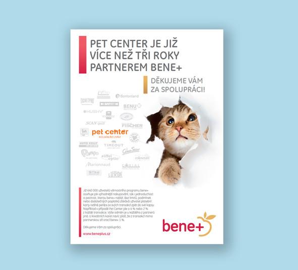 Inzerát bene+ Pet Center