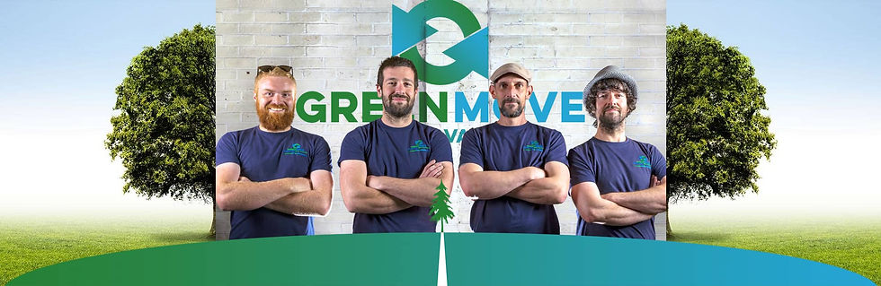 green move removals company photos with tree
