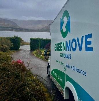 green move van in newton mearns area