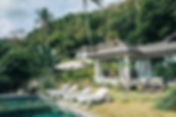 villa rental with swimming pool and sea views on koh phangan, thailand