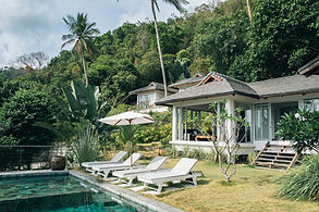 villa rental with swimming pool and sea views on koh phangan, thailand
