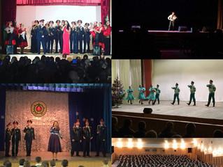 Новогодние концерты в воинских частях округа