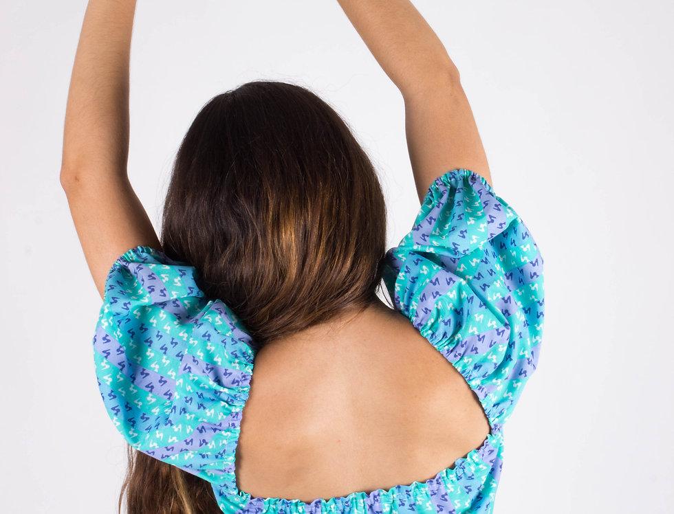 Top Valeria, handmade, hecho a mano, the vintage lab, petticoat, top, top vintage