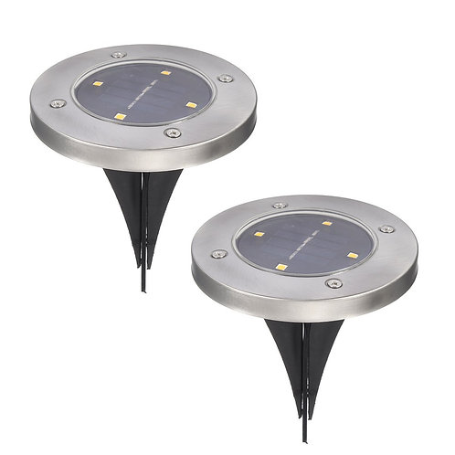 Pathonor Waterproof Solar Powered Ground Light with 4 LEDs (2 Pack)