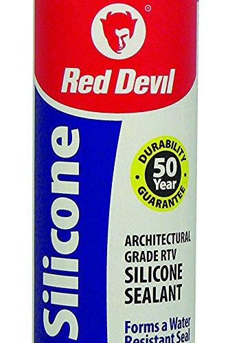 Red Devil 081650 100% Silicone Sealant Architectural Grade, 10.1 oz