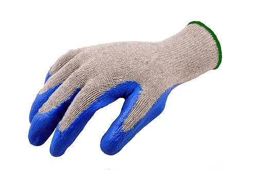 G & F 3100L-DZ Knit Work Gloves, Textured Rubber Latex Coated (12 pairs)
