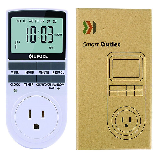 Timer Outlet 120V Weekly Programmable 7 Day Electrical Timer Switch