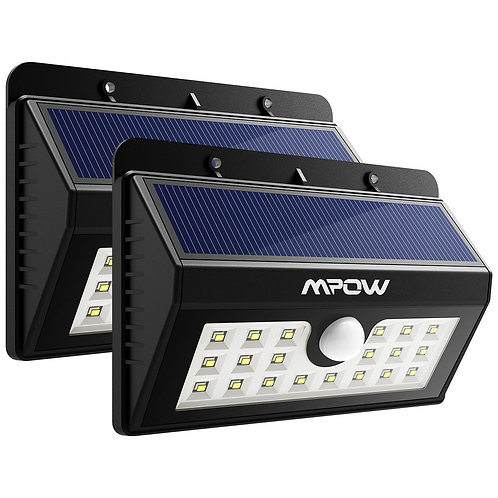 Mpow Solar Lights 2-Pack 20LED Motion Sensor Light Waterproof Outdoor Wall Light