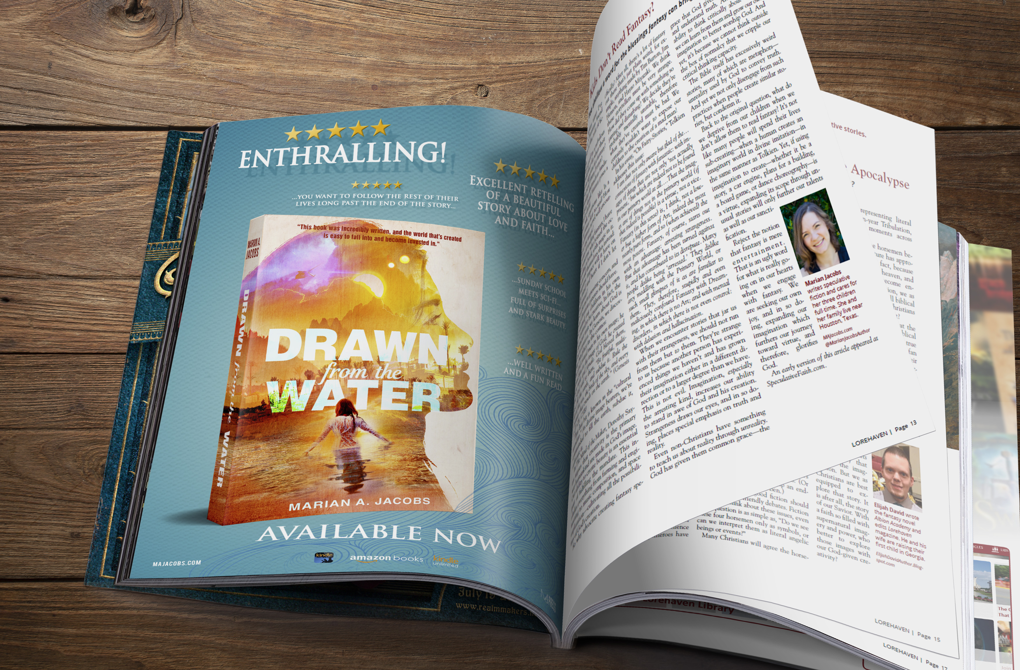 Drawn From The Water Magazine Ad