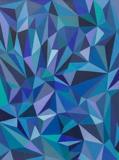 Geometric Blue Abstrac
