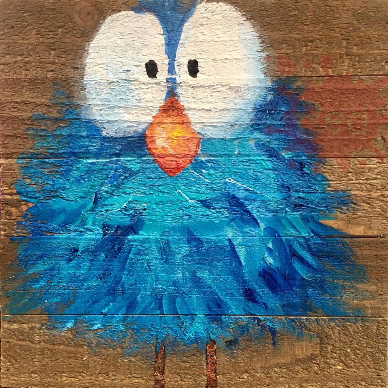 Crazy blue bird DER