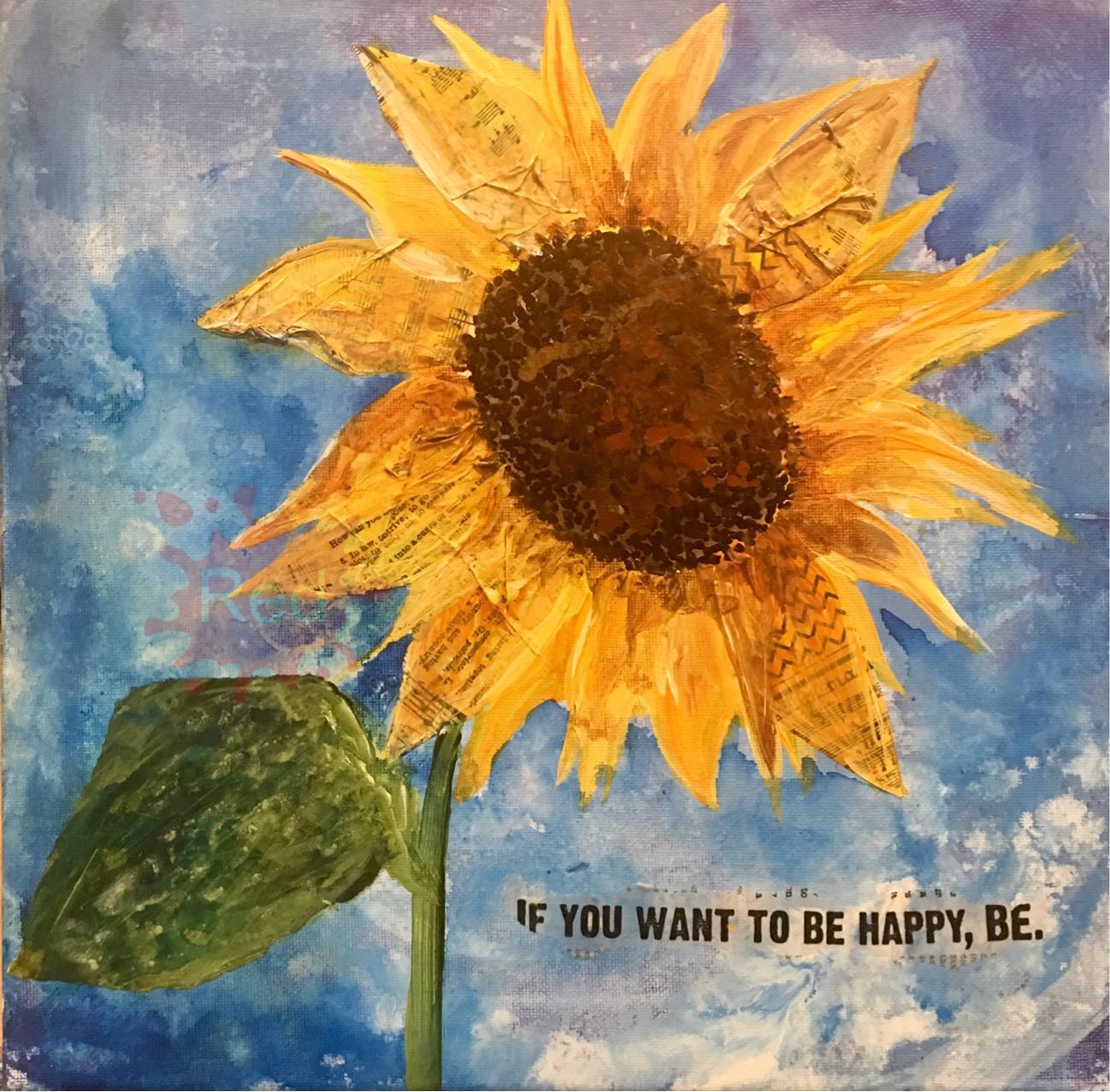 Be Happy Sunflower