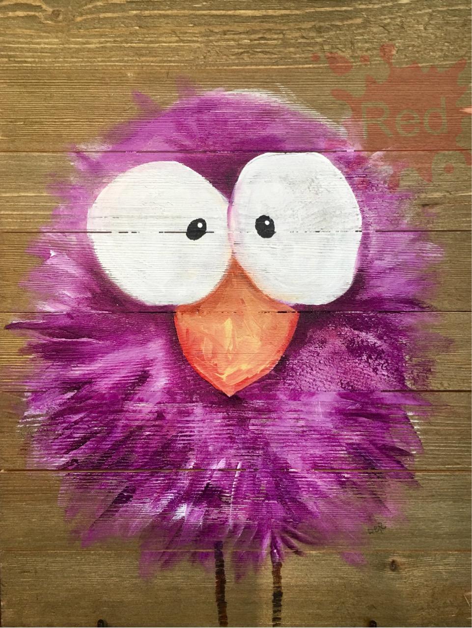 Purple Crazy bird DER