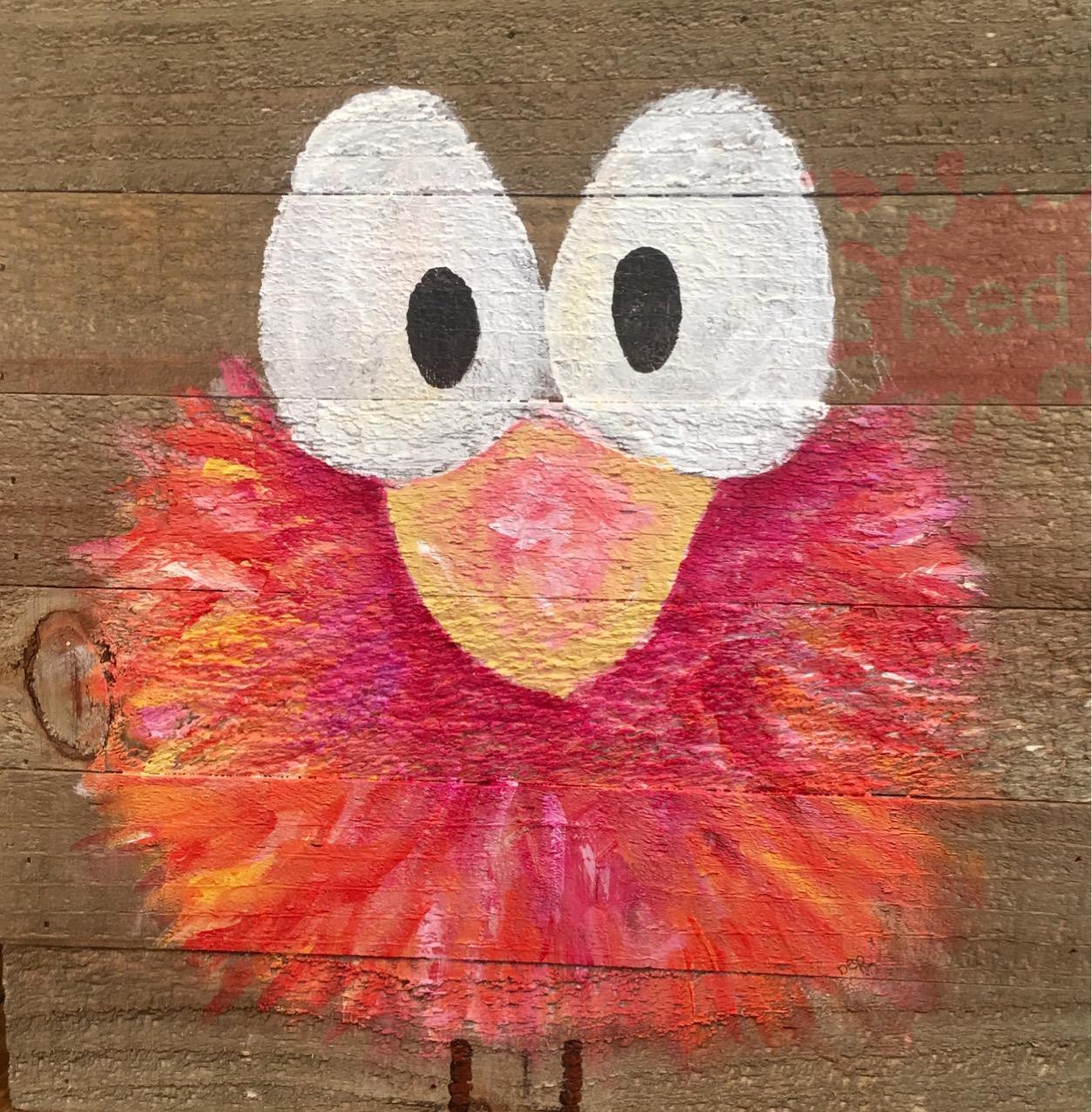 Crazy pink bird DER