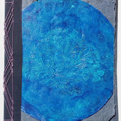 Coral Journal made with Denim Paper