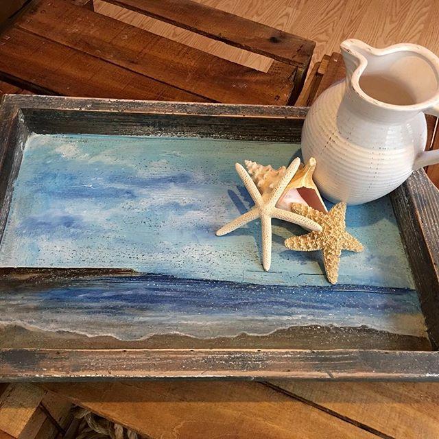 _vanechstudio The latest beach tray. This one is 14.5 x 21_