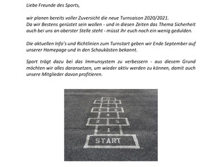 Turnsaison 2020/21 ist in Planung