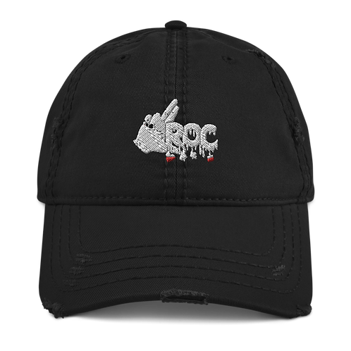 """LROC"" Logo Distressed Dad Hat"