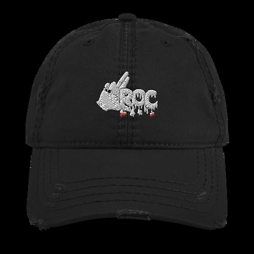 """LROC"" Logo Distressed Dad Hat"